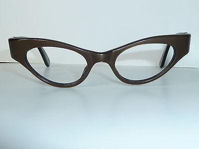"""Brille, Brillengestell, 50er-J. """"Cateye"""", stabile Scharniere, ungetragen"""