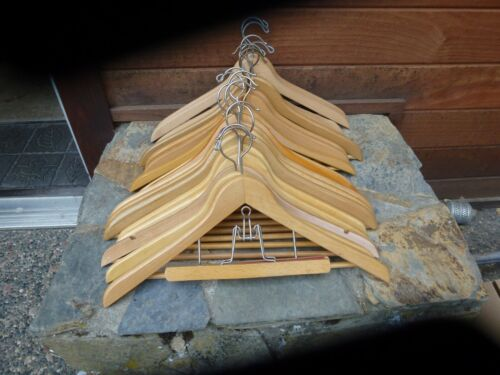 19 Vintage Wood Coat Hangers