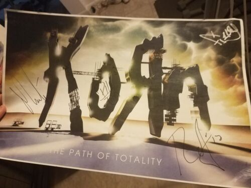 """Korn Entire Band Signed Tour Poster with Proof  """"Path of Totality Tour"""""""