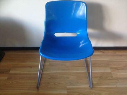 Royal blue IKEA office chair