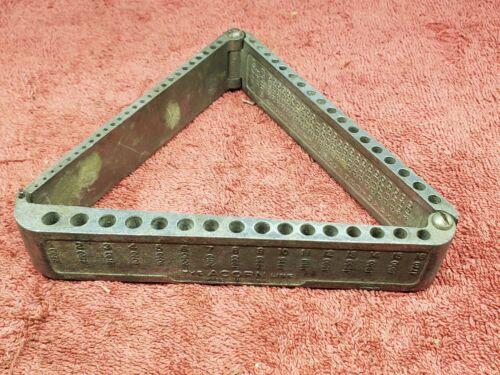 Vintage Acorn Folding Drill Index,1-60 Numbered