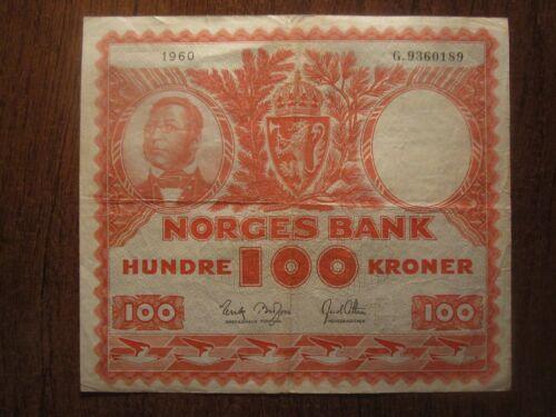 1960 NORWAY 100 KRONER