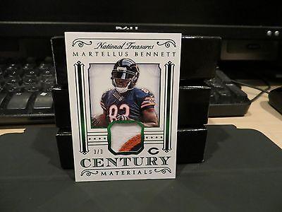 National Treasures Century Materials Jersey Bears Martellus Bennett 3 3  2015
