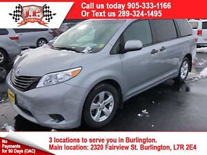 2017 Toyota Sienna 3rd Row Seating, Back up Camera, Bluetooth