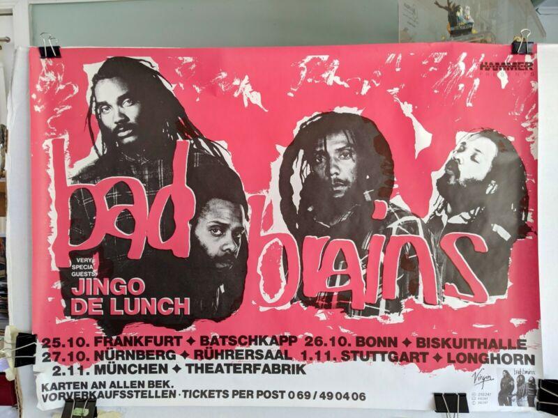 Bad Brains 1989 German Quickness Tour Poster RARE!