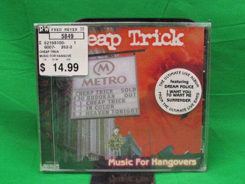 Cheap Trick Music for Hangovers CD New Sealed Hard to Find !!