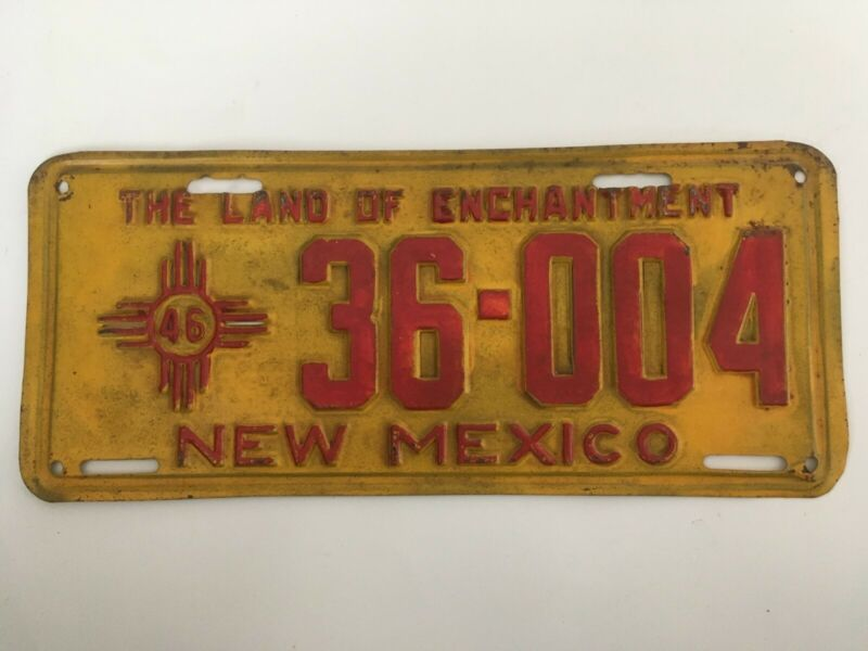 1946 New Mexico License Plate Repaint