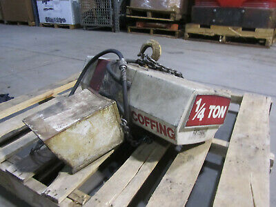 14 Ton Coffing Electric Chain Hoist 230460 3 Phase. Used