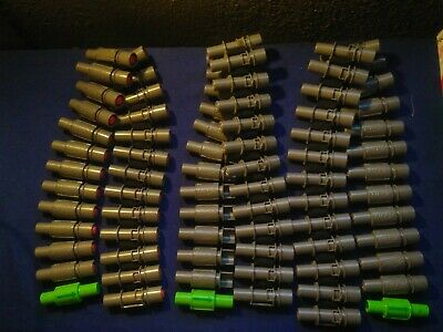 Nerf Vulcan EBF Machine Gun Ammo Belt Dart Chain Clips Lot of 3 (75 rounds)
