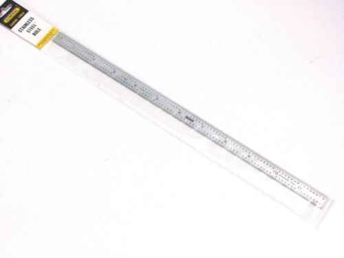 """NEW GENERAL TOOLS 12"""" FLEXIBLE STAINLESS STEEL RULE, 8th 16th 32nd 64th, CF-1234"""