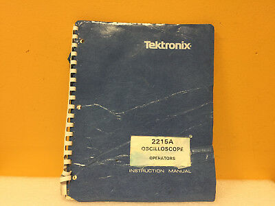 Tektronix 070-4732-00 2215a Oscilloscope Operators Instruction Manual
