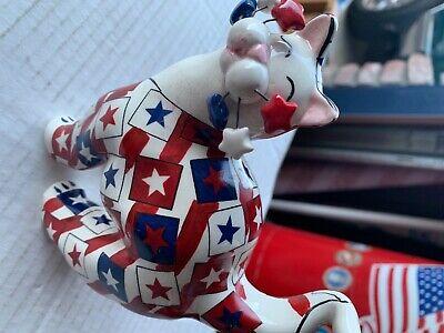 Lacombe Patriotic Cat figurine