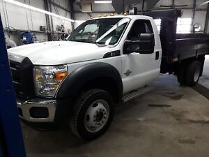 2016 Ford F-550 CHASSIS CAB DOMPER DUMP TRUCK 4 X 4 DIESEL