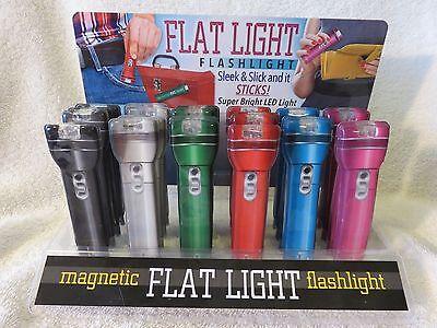 1-FLAT LIGHT MAGNETIC FLAT FLASHLIGHT LED 1/4