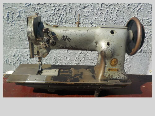 Industrial Sewing Machine Model Singer 112w139, two needle walking foot, Leather