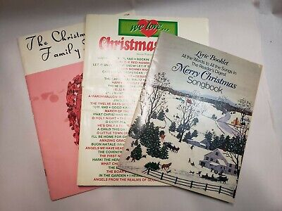 Christmas Song Books, Lot Of 3 ()