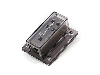 KnuKonceptz 4 Gauge to 8 gauge 4 way Set Screw Ground Distribution Block AWG
