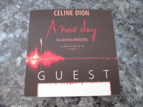 CELINE DION - A NEW DAY WORLD TOUR - BACKSTAGE PASS
