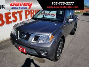 2018 Nissan Frontier PRO-4X 4X4, CREW CAB, NAVIGATION, SUNROOF
