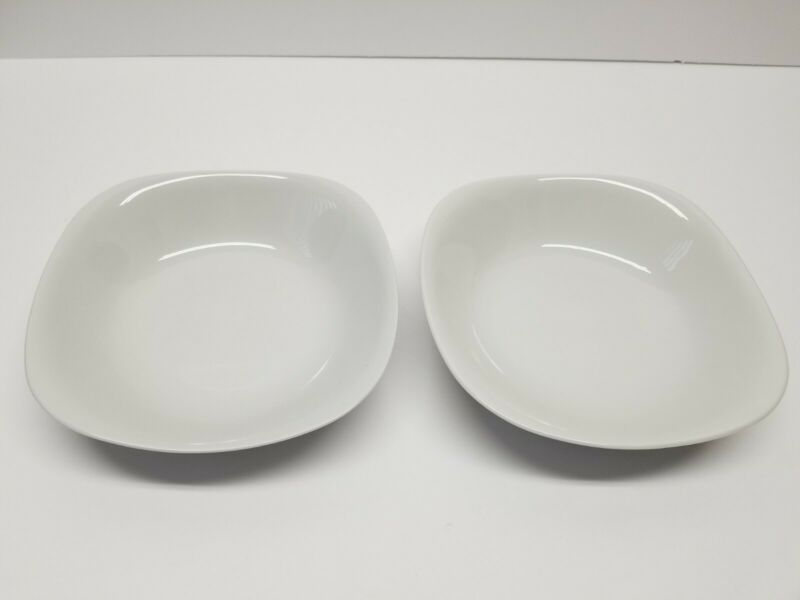 "BLOCK  LANGENTHAL TRANSITION WHITE CEREAL BOWL  6.5""  LOT OF 2"