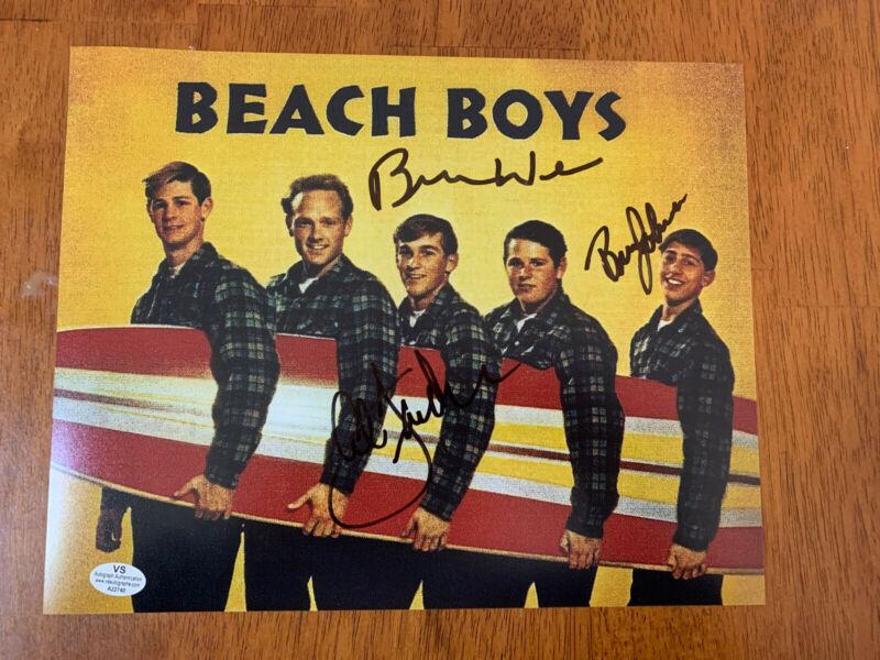 THE BEACH BOYS WILSON JOHNSON JARDINE Hand Signed Autographed 8 x 10 Photo COA