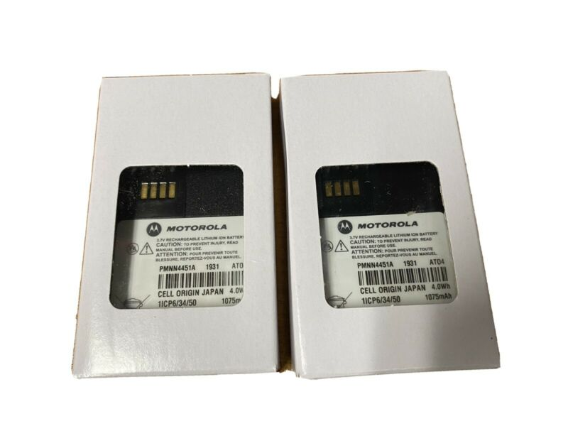 Lot Of 2x Motorola OEM Minitor VI Standard IP56 Li-Ion Battery PMNN4451A