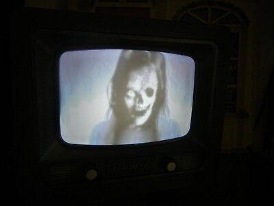 ANIMATED * POLTERGEIST TV * HAUNTED HALLOWEEN DISPLAY PROP TELEVISION (Halloween Tv)
