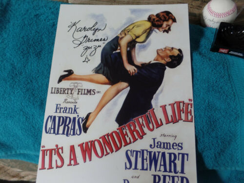 ZUZU autographed 11x17 poster from the actress of  It's a Wonderful Life Movie *