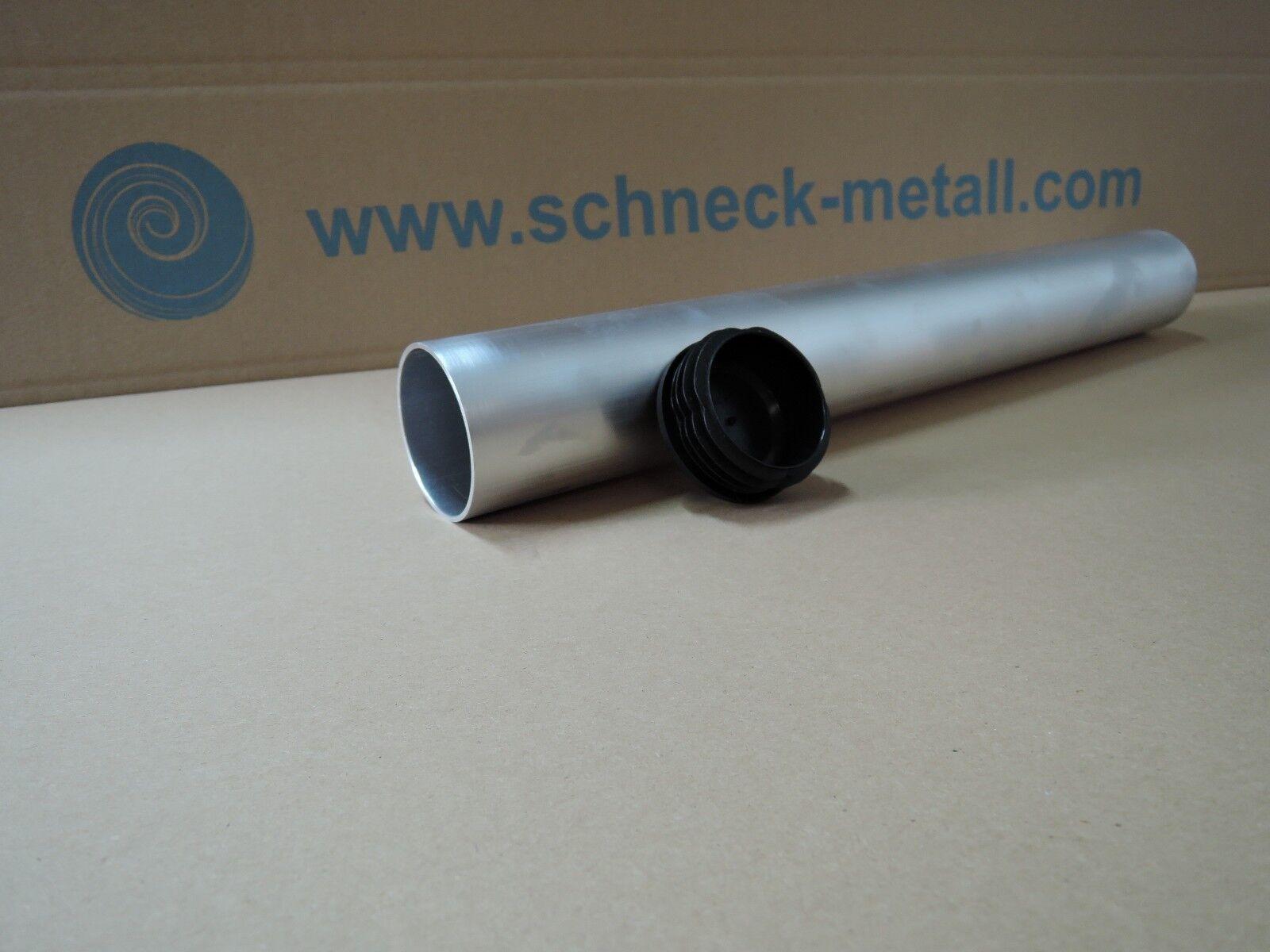 Bodenhülse für Sonnensegelmast 60mm 50cm Länge inkl. Abdeckkappe Sonnensegel