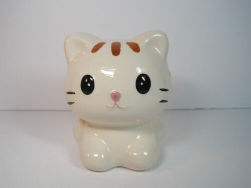 Vintage Sweet  Ceramic Piggy Money Bank Cat Figurine