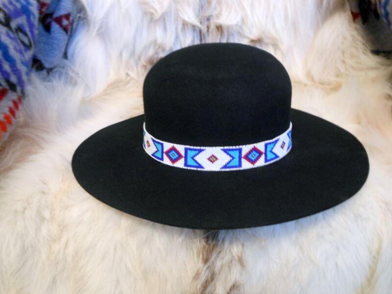BILLY JACK MOVIE REPLICA HANDLOOMED BEADED HATBAND/INDIAN JOE ROUND DOME HAT