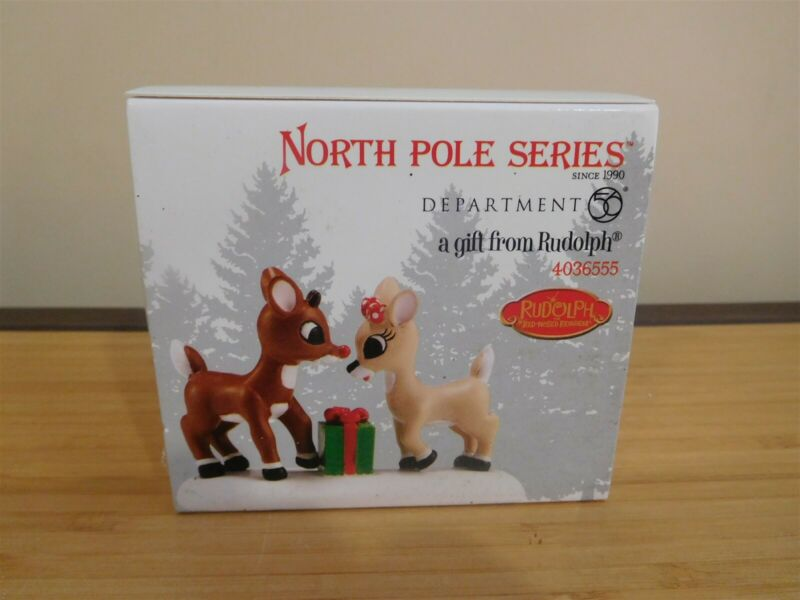 Dept 56 North Pole Accessory - A Gift from Rudolph - NIB