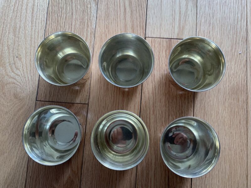 Julip Punch Cup Taunton Silversmith Set of 6 Vintage 70