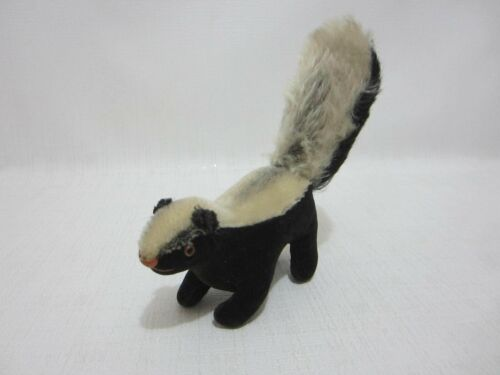 STEIFF Skunk Velvet & Mohair 1962-1963 Vintage Glass Eyes Miniature