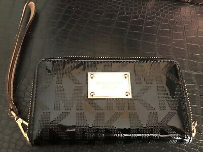 Michael Kors Jet Set Leather Wallet Black