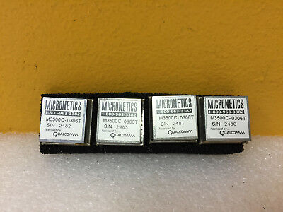 Micronetics M3500c-0306t Lot Of 4 300 To 600 Mhz 12 V Vco Oscillator. New