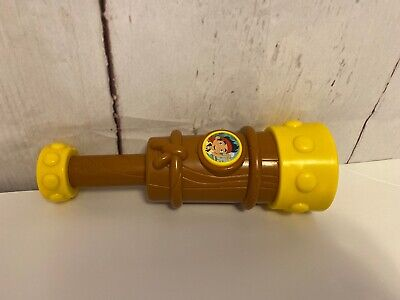 "Mattel Disney Jake And The Neverland Pirates Talking Spyglass Telescope Toy 9"""