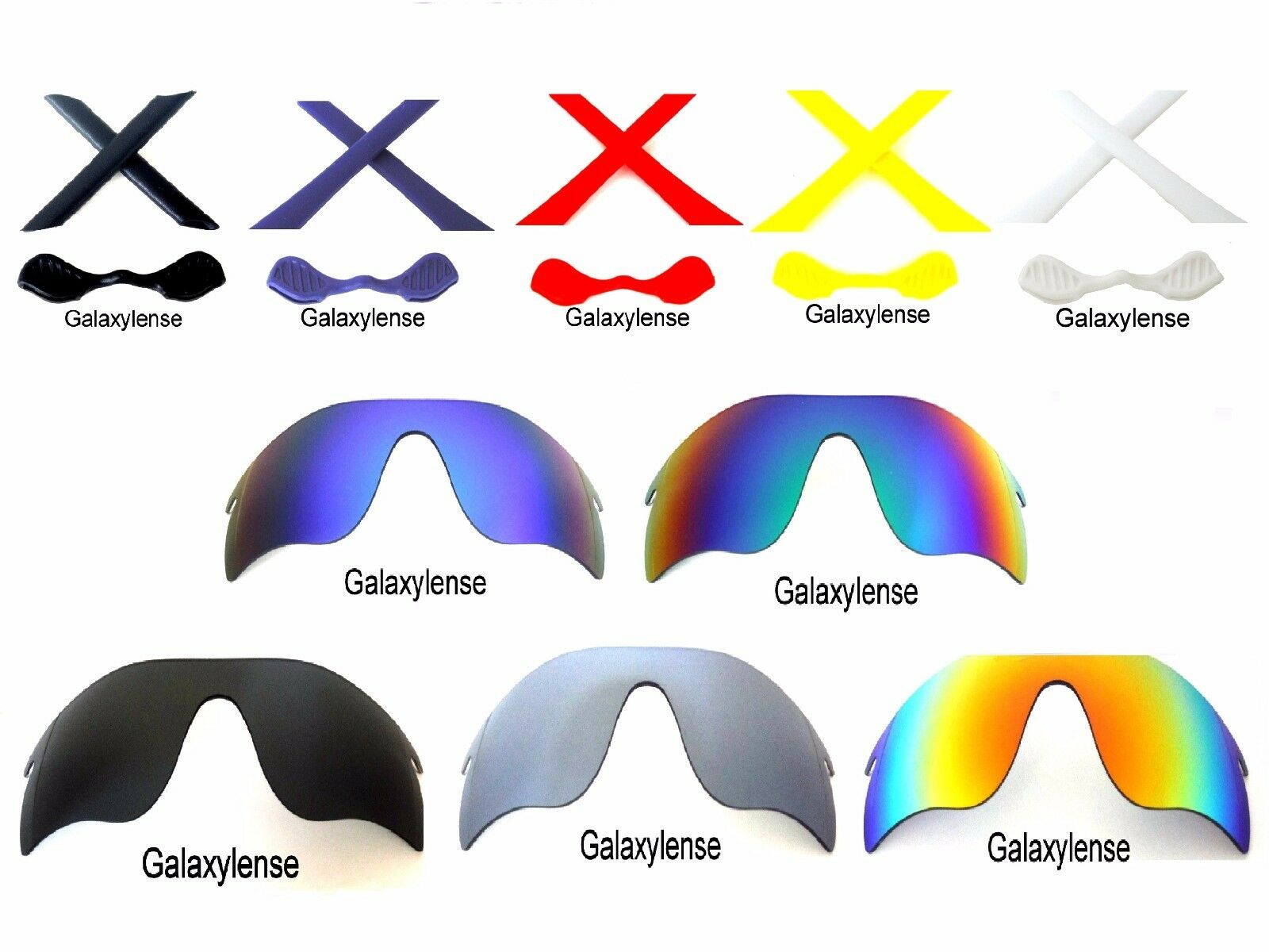 e5a192c807 Galaxy Replacement Lenses For Oakley Radarlock Path Sunglasses Multi -Selection