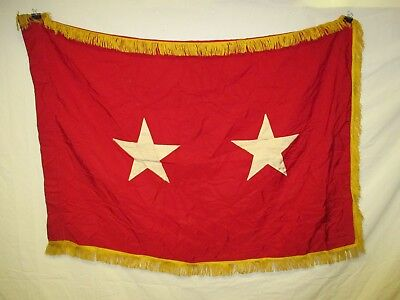 flag1006 US Army 2 Star Major General Service Flag stained  W10F