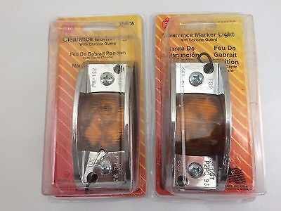 """4.75""""x 2"""" Inch Amber Rectangle Clearance Side Marker Light Trailer Tractor Truck"""