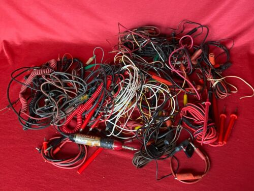 Large Lot 4 lbs. of Electrical Test Probes Clips etc.