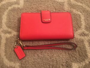 Authentic Coach Wristlet Wallet