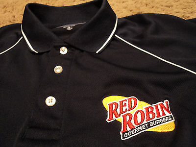 Mens   Red Robin   Gourmet Burgers Embroidered Golf Polo Uniform Shirt Xl New