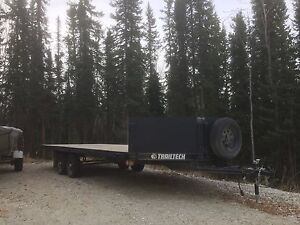 2016 Trailtech 20 foot dual axel 4 place sled trailer/flat deck