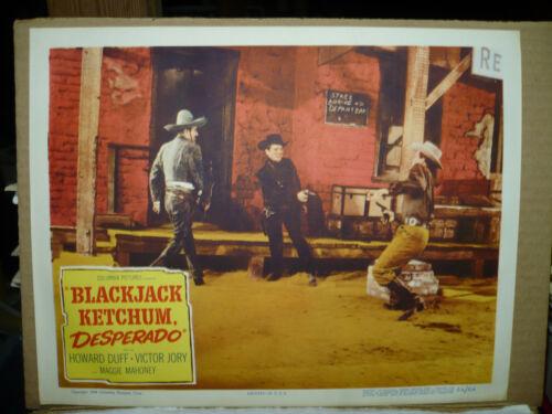 BLACKJACK KETCHUM - DESPERADO, orig 1956 LC (Howard Duff) - shoots first
