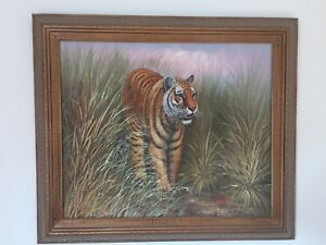 Oil painting of tiger