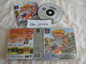 Crash Bash PS1 (COMPLETE) Bandicoot platinum Sony PlayStation rare party game