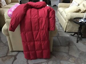 Woman's down filled coat