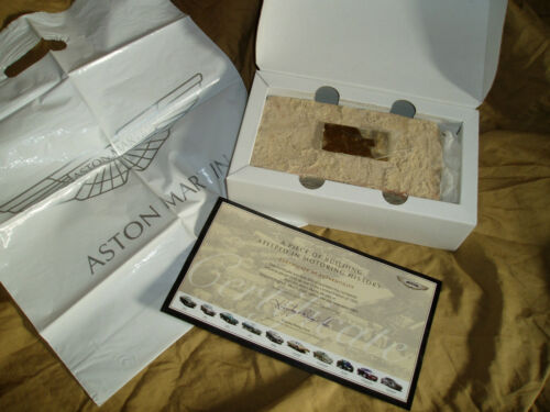 ASTON MARTIN Numbered Brick #660 Newport Pagnell factory - no brochure Prospekt