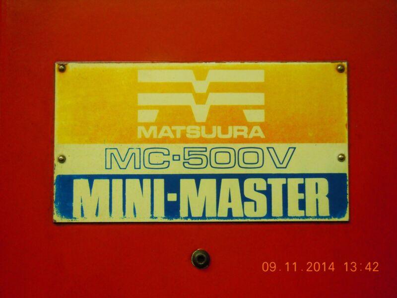 1979 Matsuura MC-500V CNC Mill with YASNAC 2000G control